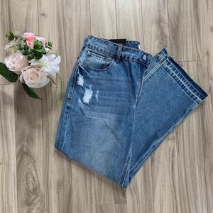 Kensie Relaxed Crop High Rise Jeans size 8/29